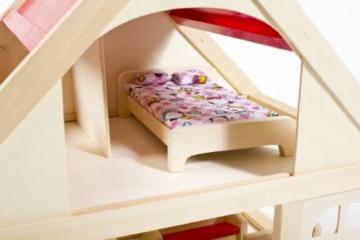 Glow2B Spielwaren 1000006 - Puppenhaus mit 9 Möbeln und 4 Puppen - 5