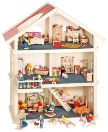 Goki 51957 - Puppenhaus 3 Etagen - 1