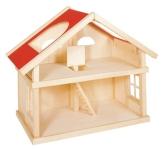 Goki 51961 - Puppenhaus, 2 Etagen, ohne Zubehör - 1