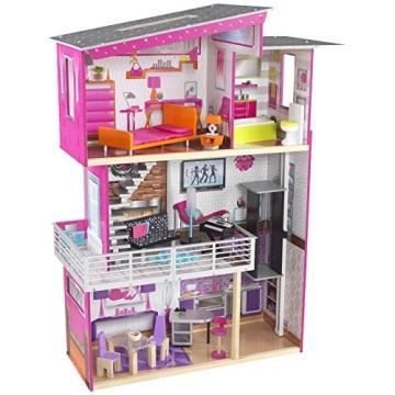KidKraft 65871 - Haushaltsspielzeug Luxury Puppenhaus, pink/violett - 1