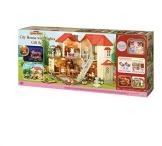 Sylvanian Families 3644 Stadthaus mit Licht Geschenk Set Sissi und Konstantin Knacks - 1