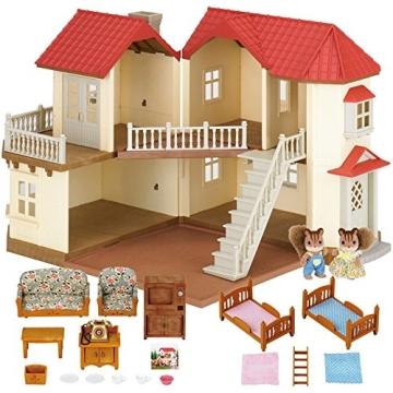 Sylvanian Families 3644 Stadthaus mit Licht Geschenk Set Sissi und Konstantin Knacks - 2