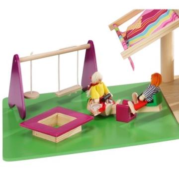 howa Puppenhaus aus Holz incl. 22 tlg. Möbelset und 4 Puppen - 2