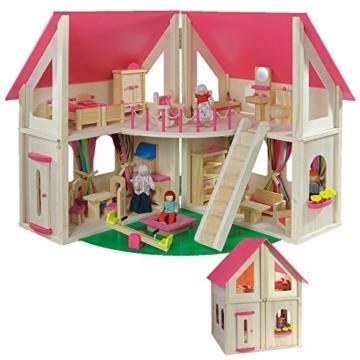 klappbares Puppenhaus von howa, incl. Möbel und Puppen 7013 - 1