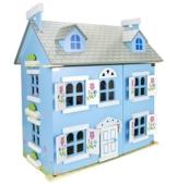 Alpine Villa Schöne Puppenhaus aus Holz mit Möbeln und Familie Puppen, Familienhaus, Häuser - 1