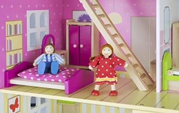 Alpine Villa Schöne Puppenhaus aus Holz mit Möbeln und Familie Puppen, Familienhaus, Häuser - 4