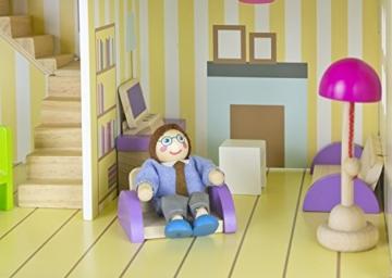 Alpine Villa Schöne Puppenhaus aus Holz mit Möbeln und Familie Puppen, Familienhaus, Häuser - 5