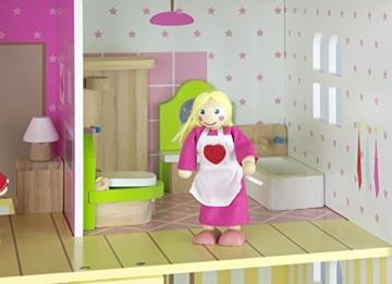 Alpine Villa Schöne Puppenhaus aus Holz mit Möbeln und Familie Puppen, Familienhaus, Häuser - 7