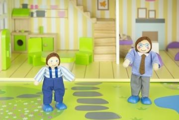 Alpine Villa Schöne Puppenhaus aus Holz mit Möbeln und Familie Puppen, Familienhaus, Häuser - 8
