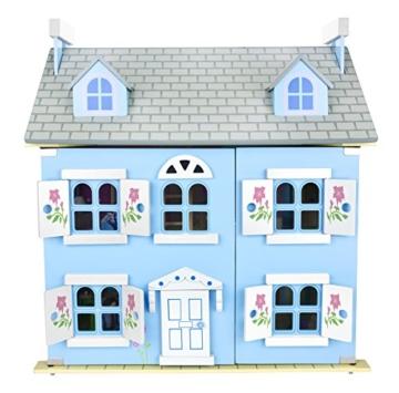 Alpine Villa Schöne Puppenhaus aus Holz mit Möbeln und Familie Puppen, Familienhaus, Häuser - 9