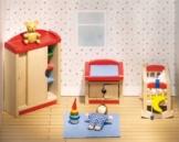 Goki 51905 - Kinderzimmer, 12-teilig, Puppenhausmöbel - 1