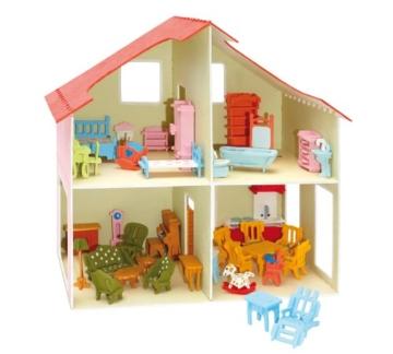 Pebaro 880 - Puppenhaus mit Möbeln - 2