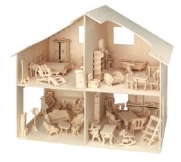 Pebaro 880 - Puppenhaus mit Möbeln - 1