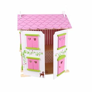 Puppenhaus Puppenstube Landhaus Möbel 2 Etagen Kinder Holz 4104 - 2