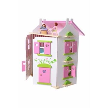 Puppenhaus Puppenstube Landhaus Möbel 2 Etagen Kinder Holz 4104 - 3