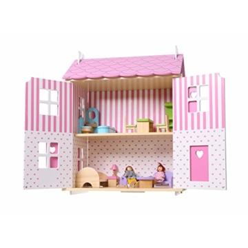 Puppenhaus Puppenstube Landhaus Möbel 2 Etagen Kinder Holz 4104 - 6