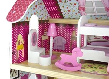 Traumvilla Holzpuppenhaus mit Möbeln, Puppenhaus holz - 2