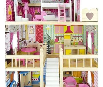 Traumvilla Holzpuppenhaus mit Möbeln, Puppenhaus holz - 4