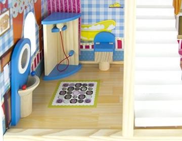 Traumvilla Holzpuppenhaus mit Möbeln, Puppenhaus holz - 5