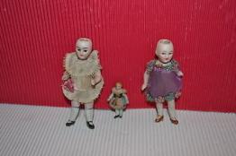 3 Puppen 1900 Puppenstube Puppenwagen Bisquit Bisquitporzellan Porzellan Origina