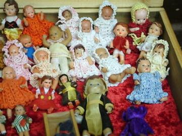 36 PÜPPCHEN 2 BEAREN PUPPENSTUBE PUPPENHAUS ES ARI PUPPEN AUFLÖSUNG SAMMLUNG HAN