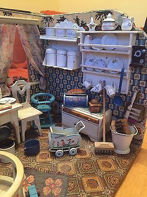 Antike Puppenstube - Küche
