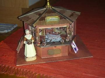 Confiserie-Pavillon/Sckokoladenmädchen/ Einzelstück/Puppenstube//Catrichen 1:12