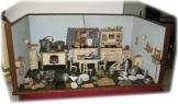 ▀█▀ ██ █▄ █▄  Uralte große Puppenstube 1930 mit Ausstattung, siehe Bilder !