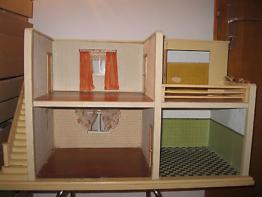 M.Gottschalk wunderschönes Puppenhaus Puppenstuben 50er komplet original zustand