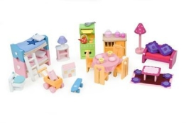 Möbel-Set Deluxe für Puppenhäuser von Le Toy Van  -- NEU --
