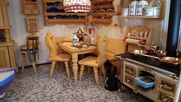 puppenhaus puppenstube spielzeug puppe komplett mit elektrik top puppenh user und puppenstuben. Black Bedroom Furniture Sets. Home Design Ideas