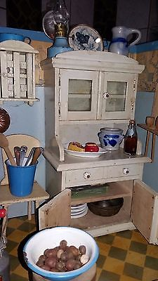 puppenstube k che emaille porzellan holz blech glas schaugerichte antik puppenh user und. Black Bedroom Furniture Sets. Home Design Ideas