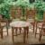 Puppenstube Puppenhäuser Möbel Rattan 4 Sessel Tisch Gartenmöbel - Dachbodenfund