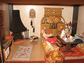 Sio-Puppenhaus m Lundby-Lisa-Möbel Puppenstube-Puppenküche
