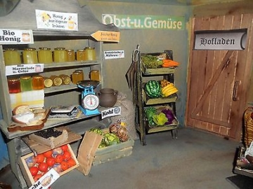 Tante Emma Mini Kaufladen Hofladen DEKO Puppenstube KOMPLETT Lebensmittel