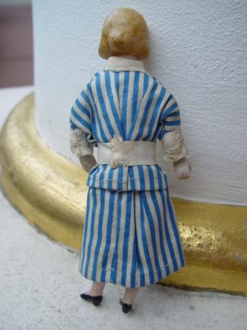 Zwei Antike Puppen für herrschaftliche Puppenstube c1910 vornehme Dame & Herr