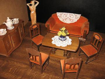 1920er Salon- Möbel  Puppen-Puppenstube-Puppenhaus-Puppenküche-Kaufladen