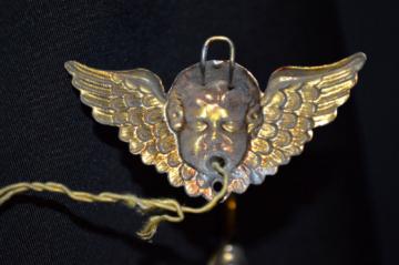 Antike ERHARD & SÖHNE Goldblech Puppenstuben Engel Wandlampe Lampe um 1900 /1755