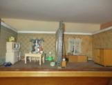 ANTIKE große 2 Raum PUPPENSTUBE Küche u. Schlafzimmermit kompletten Mobiliar