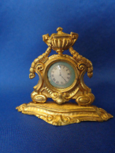 Antike Uhr Puppenstuben Uhr Erhard & Söhne antique dollhouse clock Erhard & sons