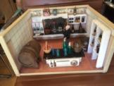 Antike Weinstube, Braustube, Brauerei, Puppenstube, Kaufladen, mit Zubehör