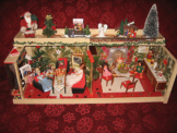 Gottschalk  Weihnachts-Puppenstube mit Beleuchtung -Puppenhaus
