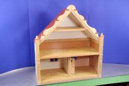 Puppenhaus aus Holz, Bodo Hennig, neuwertig Puppenstube, mit Treppe