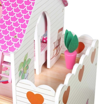 Puppenhaus Holz Puppenstube Dollhouse 3 Etagen Rosalie Puppenmöbel Neu Baby Vivo