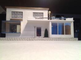 Puppenhaus, Puppenstube, Bungalow aus den 50iger Jahren, renoviert!