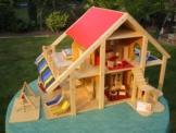 riesiges Puppenhaus Puppenstube aus stabilem Holz, handgefertigt