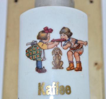 Schöne kleine Wandkaffeemühle Kaffeemühle Porzellan Puppenstube Puppenküche