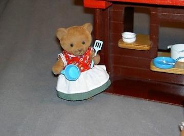 Simba Bärenwald Bear - Family Clown Kasper Zirkus Puppenhaus Puppenstube **