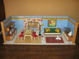 Vero-Puppenstube ,eingerichtet Puppenhaus  Puppenküche-kaufladen